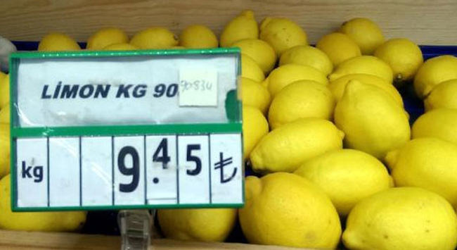 Limonun kilosu 10 lirayı buldu