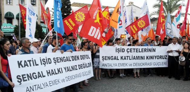 Antalya'da IŞİD ve İsrail tepkisi