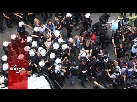 İstiklal'de Gezi eylemcilerine müdahale (Tepeden)