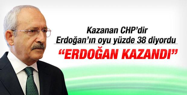 Kılıçdaroğlu Erdoğan kazandı dedi