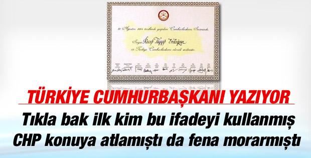 Erdoğan'ın mazbatası Cemil Çiçek'e verildi