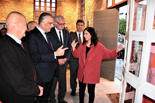 "MAKSİMUM SANAT MİNİMUM RİSK SANAT KAMPI 2020"" SERGİSİ AÇILDI"