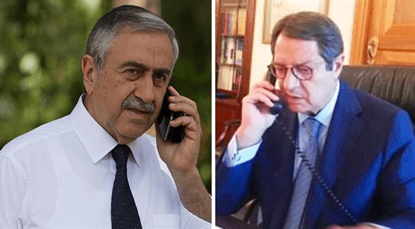 AKINCI VE ANASTASİADİS TELEFON İLE DURUMU DEĞERLENDİRDİ