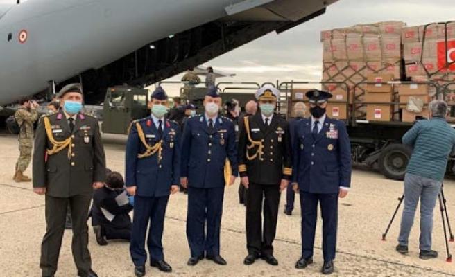 Türkiye'nin tıbbi yardım uçağı ABD'ye ulaştı