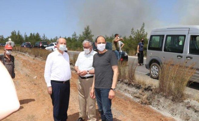 ÖZERSAY: Yangın ODTÜ sınırında durduruldu