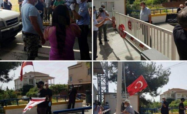 Pile'deki Türkler ve Güney Kıbrıs'ta çalışanlar eylem yaptı
