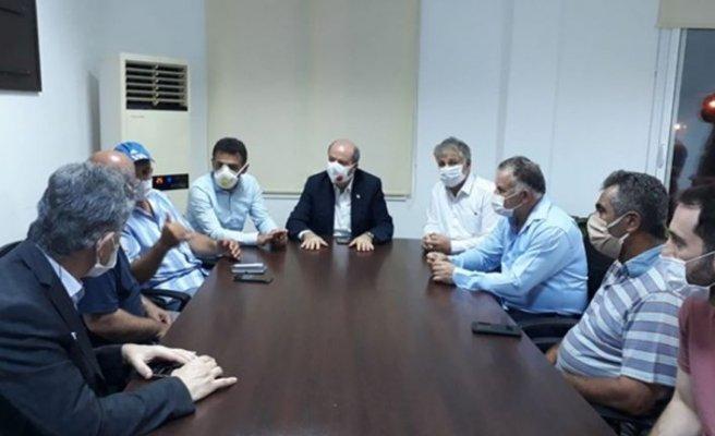 Tatar Güzelyurt Kaymakamlığındaki kriz toplantısına katıldı