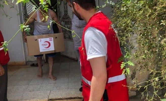 Türk Kızılay'dan KKTC'deki ihtiyaç sahibi ailelere gıda yardımı