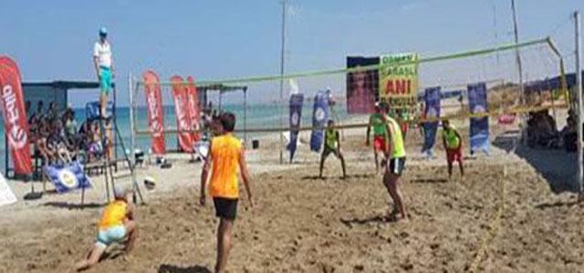 Osman Maraşlı Plaj Ligi Yapılıyor