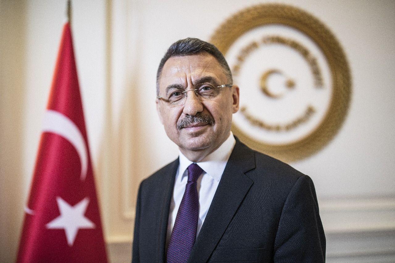 TC Cumhurbaşkanı Yardımcısı Oktay: Mersin Limanımızın Lübnan'ın hizmetinde olacağını ifade ettik sözlerini kullandı