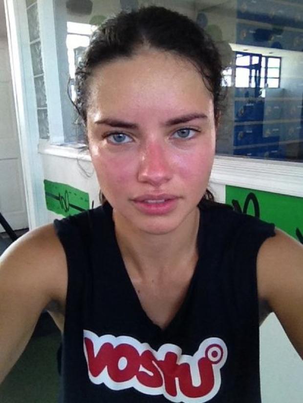 Adriana Lima'yı hiç böyle görmediniz…