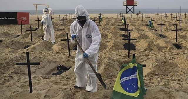 Kovid-19'dan son 24 saatte Brezilya'da 541, Hindistan'da 771 kişi öldü